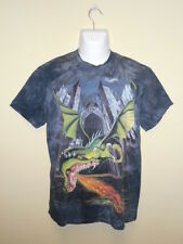 *EUC* THE MOUNTAIN DRAGON BLUE GRAY TIE DYE SHORT SLEEVE T-SHIRT men's size M