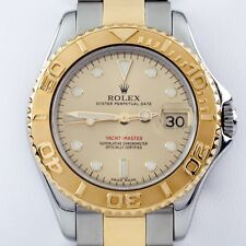 Rolex ♛ Two-Tone Mid-Size Yachtmaster OPD Automatic Watch w/ Date 168625
