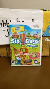 CIB SIX FLAGS FUN PARK NINTENDO WII VIDEO GAME