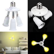 Portalampade sdoppiatore 3 in 1 E27 triplo attacco adattatore tre bulbi luce led