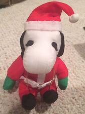 Small Santa Snoopy Nylon Plush Animal