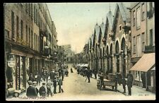 Channel Islands JERSEY Halket Place PPC busy street scene