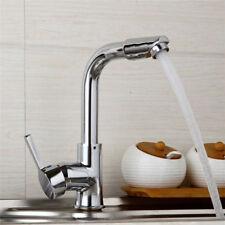 US Chrom Swivel Kitchen Sink Mixer Bathroom Basin Single Handle Faucet Brass Tap