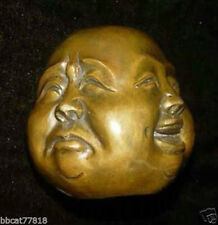 Details about Collect Buddha Head Four Faces Brass Statue