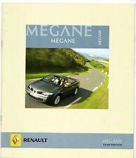 Renault Megane Coupe Cabriolet 2007 UK Market Sales Brochure