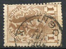 Greece 1901 Flying Hermes 1 lepto W Postmark Type Vi korynthos #2