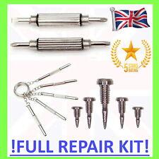 👓 GLASSES REPAIR KIT Screwdriver & SCREWS tool fix set 1.4mm flat head cross 5