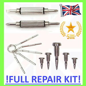 👓 GLASSES REPAIR KIT Screwdriver & SCREWS tool fix set 1.4mm flat head cross 5