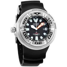 Citizen Promaster Diver Black Dial Polyurethane Strap Men's Watch BJ8050-08E