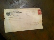aa-1 old letter  cover only columbus ohio  house of represenatives 1911 franks
