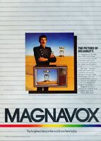 1981 Magnavox TV Leonard Nimoy Original Vintage Advertisement Print Ad J901