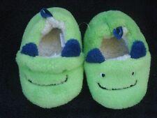 Green Monster Fuzzy Fleece Slippers Infant Boy Size 4 NWOT