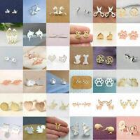 Women's Earrings Girl 925 Silver Sterling Cute Ear Stud Jewelry Gifts Fashion