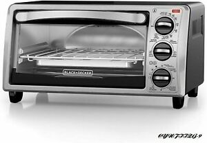 BLACK+DECKER 4-Slice Toaster Oven with Natural Convection, Stainless Steel, TO17