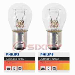 2 pc Philips Brake Light Bulbs for Ford Bronco E-100 Econoline E-200 ic