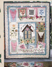PATTERN - Happy Thoughts - applique & pieced wall quilt PATTERN - Bareroots