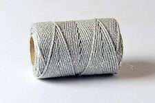 20m Silver Spool/Reel Bakers Glitter Twine Sparkle Gift String Wedding Xmas