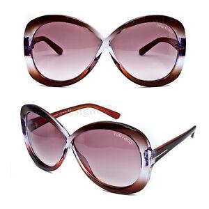 Tom Ford Margot TF226 50Z Transparent Purple Gradient 63/5/130 Sunglasses Italy