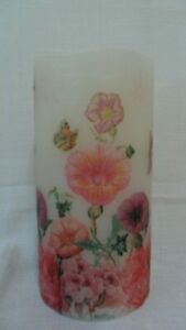 Summer Garden Flowers LED Candle