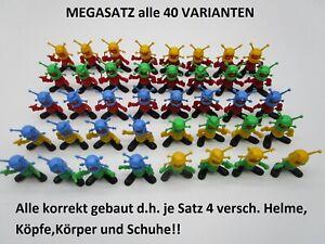 MS: MEGASATZ LUSTIGE ASTRONAUTEN   EU 1983  alle 40 Stück schwarze Füße  (STEU1)