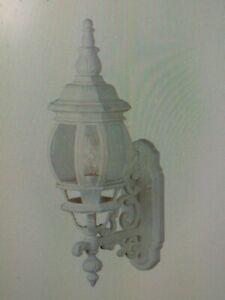 Trans Globe Lighting 4050 WH 1 Light Up Lighting Wall Sconce -WHITE OUTDOOR (#46