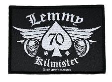 Lemmy 70th Birthday Aufnäher Motörhead Lemmy Patch Gewebt & Lizenziert !! SP2911