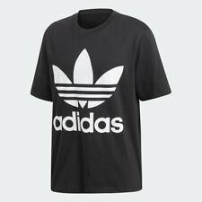 adidas Originals Oversized Trefoil Tee Sizes XS-L Black RRP £35 Brand New CW1211