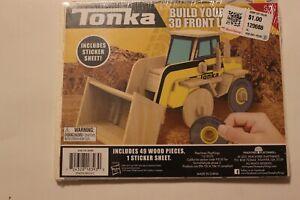 SEALED Tonka 3D Wood Model Kit FRONT LOADER!!!!!