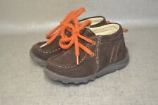 Primigi Boys Brown Leather Suede Lace Up Shoes Size EU 22 US 5.5 Toddler