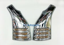CHROME FRONT DOOR LOW PILLAR COVER + LED LIGHT TOYOTA HIACE COMMUTER VAN 2005-14