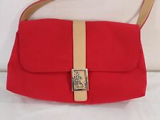 Lauren Ralph Lauren Red Shoulder Purse Small New