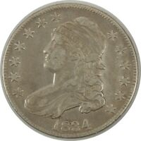 1834 50C CAPPED BUST HALF DOLLAR VF+ DETAILS Lightly Cleaned  (11112034)