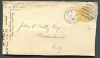 "MANITOBA TOWN CANCEL SMALL QUEEN COVER FRONT ""WINNIPEG"""