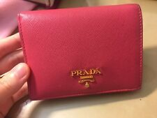 authentic prada milano bifold wallet purse leather pink best offer