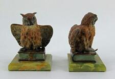 Originale Wiener Bronzen um 1900 'Eulen als Buchstützen' - keine Reproduktion
