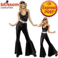 CA155 Hippie Flower Power Hippy 70s Women Disco Retro Groovy Go Go Dance Costume