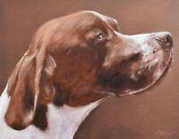 Superb John Silver Original Oil Painting - Portrait Of A Pointer Dog
