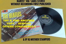 "BEATLES "" PLEASE PLEASE ME ""SUPER UK RAREST 4TH LABEL STEREO NO REC 1ST PUB 1G"