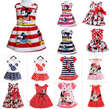 Toddler Baby Girls Minnie Mouse Dress Kids Cartoon Summer Casual Party Sundress