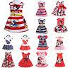 Infant Toddler Girl Minnie Mouse Pirnt Kid Cartoon Summer Vest Skirt Party Dress
