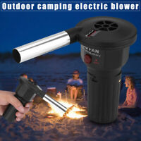BBQ Cooking Fire Air Blower Battery Powered Fan Barbecue Outdoor Camping Picnic