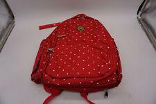 Cateep Waterproof Travel Diaper Backpack w/ Changing Pad-Navy Polka-Dot