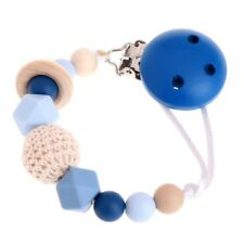 Silicone Baby Teething Dummy Pacifier Clip Bead Infant Soother Nipple Chain Hot