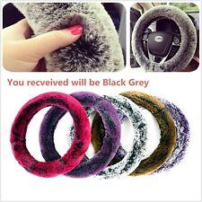 Car Steering Wheel Covers Winter Warm Soft Plush Auto Interior Accessories 15''