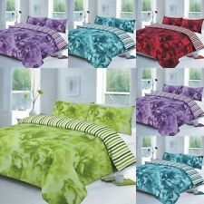 DUVET COVER WITH PILLOW CASES QUILT COVERS BEDDING SETS ROSE ALL SIZE AVAILABLE