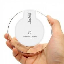 NEW WHITE Qi Wireless Charger iPhone 8 Xs X Charging Pad for Samsung S7 Edge S6