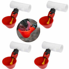 4PCS Poultry Bird Chicken Water Drinking Cups Plastic Hen Automatic Drinker New
