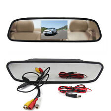 4.3 Digital TFT LCD Screen RearView Mirror Monitor Car Reverse with Backup Cam