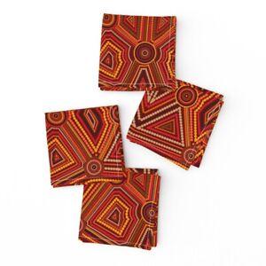 Cocktail Napkins Aboriginal Abstract Aboriginal Art Australian Set of 4
