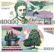 NORWAY 10000 Kroner Fun-Fantasy Note Gina Krog Oil Rig 2017 Banknote